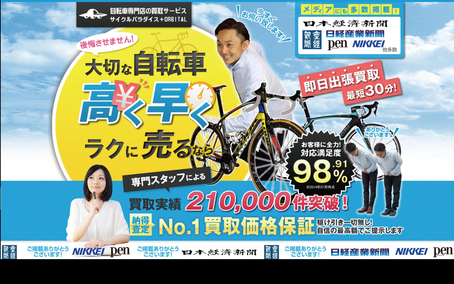 自転車買取サイパラ